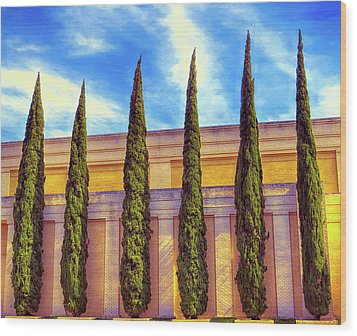 Wood Print featuring the digital art No Ordinary Days by Wendy J St Christopher