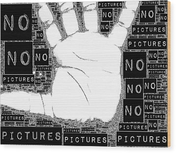 No Pictures Wood Print by ISAW Gallery