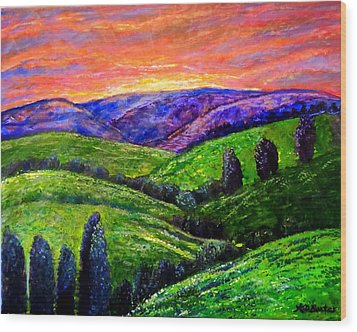 No Place Like The Hills Of Tennessee Wood Print by Kimberlee Baxter