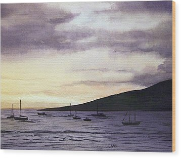 No Safer Harbor Lahaina Hawaii Wood Print