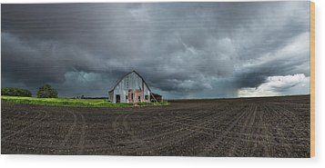 Wood Print featuring the photograph No Shelter Here by Aaron J Groen