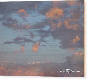 No Tears In Heaven Wood Print