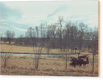 No Till Farm Wood Print by Jame Hayes