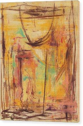 No Walls House Wood Print by Shirley McMahon
