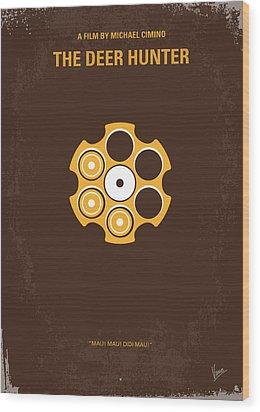 No019 My Deerhunter Minimal Movie Poster Wood Print by Chungkong Art