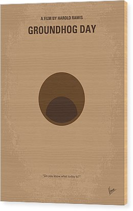 No031 My Groundhog Minimal Movie Poster Wood Print