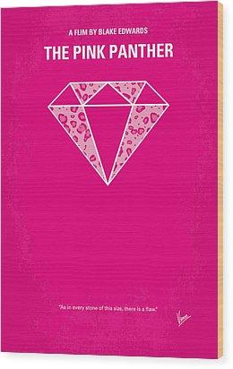 No063 My Pink Panther Minimal Movie Poster Wood Print by Chungkong Art