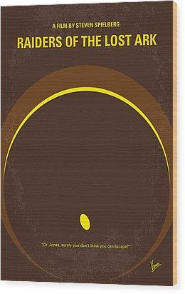 No068 My Raiders Of The Lost Ark Minimal Movie Poster Wood Print by Chungkong Art