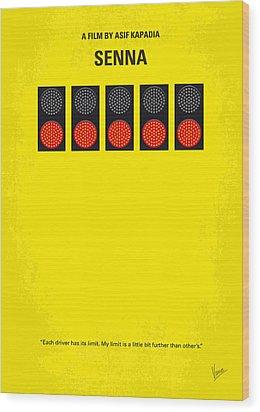 No075 My Senna Minimal Movie Poster Wood Print by Chungkong Art