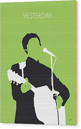 No076 My Paul Mccartney Minimal Music Poster Wood Print by Chungkong Art