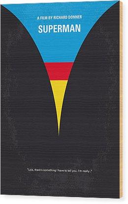 No086 My Superman Minimal Movie Poster Wood Print by Chungkong Art