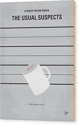 No095 My The Usual Suspects Minimal Movie Poster Wood Print by Chungkong Art