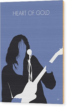 No128 My Neil Young Minimal Music Poster Wood Print