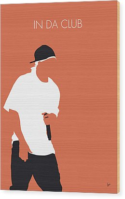 No153 My 50 Cent Minimal Music Poster Wood Print