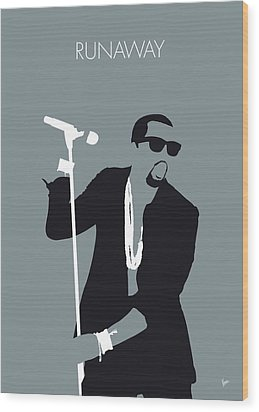No157 My Kanye West Minimal Music Poster Wood Print