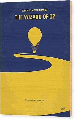 No177 My Wizard Of Oz Minimal Movie Poster Wood Print by Chungkong Art