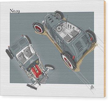 No.19 Wood Print
