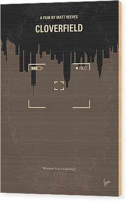No203 My Cloverfield Minimal Movie Poster Wood Print by Chungkong Art