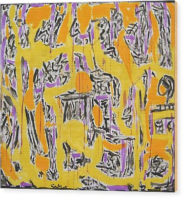 No.343 Wood Print by Vijayan Kannampilly