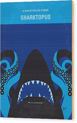 No485 My Sharktopus Minimal Movie Poster Wood Print