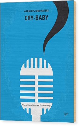 No505 My Cry-baby Minimal Movie Poster Wood Print