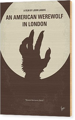 No593 My American Werewolf In London Minimal Movie Poster Wood Print