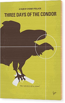 No659 My Three Days Of The Condor Minimal Movie Poster Wood Print