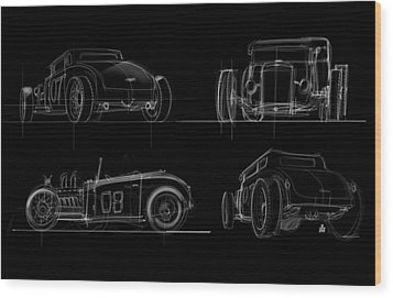Wood Print featuring the drawing No.7 by Jeremy Lacy