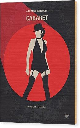 No742 My Cabaret Minimal Movie Poster Wood Print by Chungkong Art