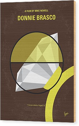No766 My Donnie Brasco Minimal Movie Poster Wood Print