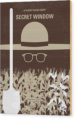 No830 My Secret Window Minimal Movie Poster Wood Print