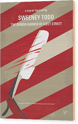 No849 My Sweeney Todd Minimal Movie Poster Wood Print