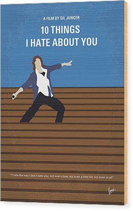 No850 My 10 Things I Hate About You Minimal Movie Poster Wood Print