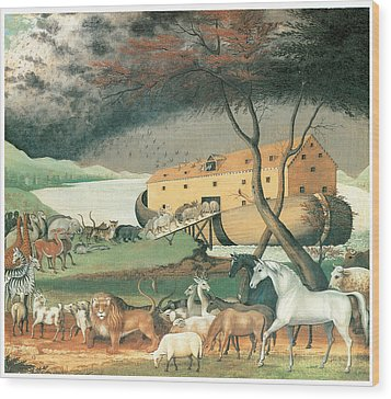 Noah's Ark Wood Print by Edward Hicks