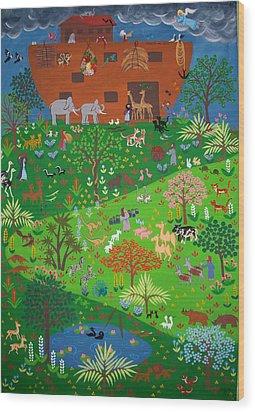 Noahs Ark Wood Print by Isolda Nouel