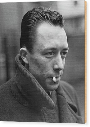 Nobel Prize Winning Writer Albert Camus Unknown Date #1 -2015 Wood Print by David Lee Guss
