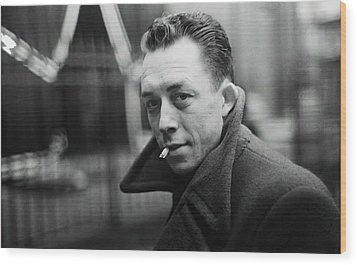 Nobel Prize Winning Writer Albert Camus  Unknown Date-2015           Wood Print by David Lee Guss