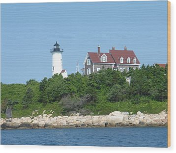 Nobska Point Lighthouse Wood Print by Donna Walsh