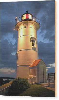 Wood Print featuring the photograph Nobska Point Lighthouse by Roupen  Baker