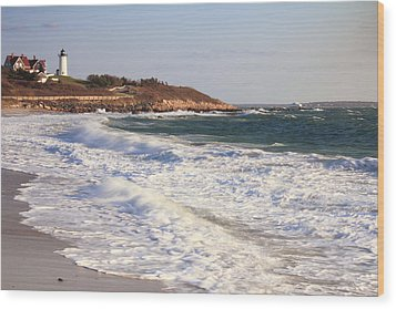 Nobska Point Seascape Wood Print