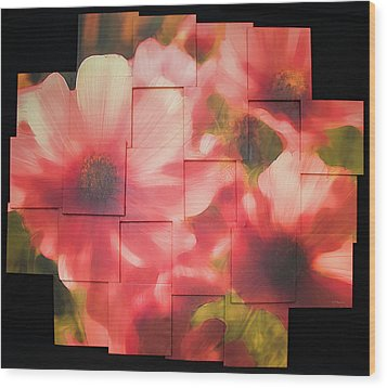 Nocturnal Pinks Photo Sculpture Wood Print by Michael Bessler