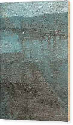Nocturne In Blue And Gold Valparaiso Wood Print by James Abbott McNeill Whistler