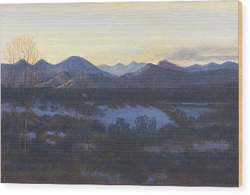 Nocturne On The Front Range Of Colorado Wood Print by Diane Edwards