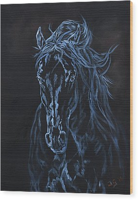 Nocturno Wood Print by Jana Goode