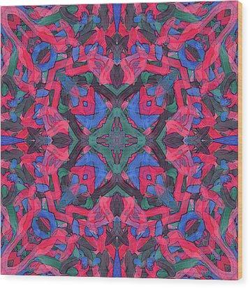 Noise Soup -pattern- Wood Print
