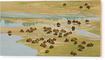 Nomads Wood Print by Thomas Sorrell