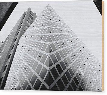 Wood Print featuring the photograph Non-pyramidal by Wayne Sherriff