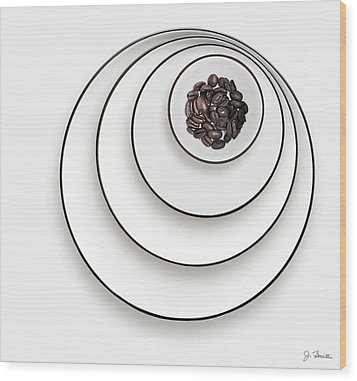 Wood Print featuring the photograph Nonconcentric Dishware And Coffee by Joe Bonita