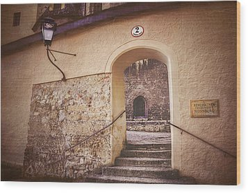 Wood Print featuring the photograph Nonnberg Abbey In Salzburg Austria  by Carol Japp