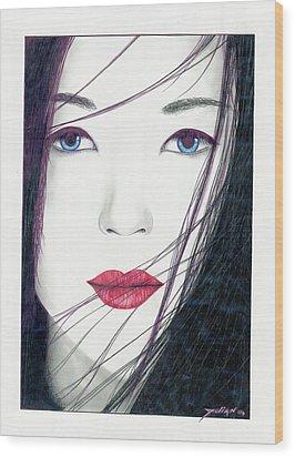 Nonya Wood Print by Julian  B